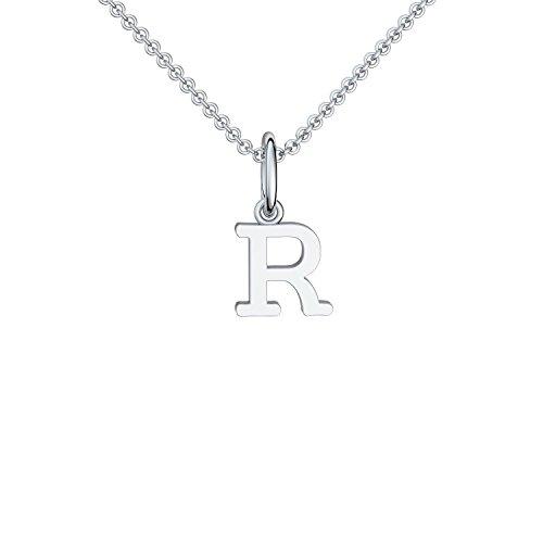Buchstabenkette R Silber Buchstabenanhänger R - inkl. Luxusetui + - Namenskette Namensanhänger Buchstabe R Kette Buchstabe R Buchstabenanhänger Buchstaben Anhänger Silber FF119-0 SS92545