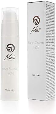 Nuvò Crème Visage H24 Jour et Nuit à la Bave d'escargot 60% Acide hyaluronique Collagène Vitamine C-E Régé