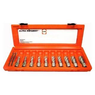 ALFRA-Broaching 10pc Cutter Set (Cobalt) 25mm Short Reach