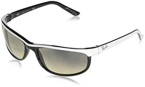 RAYBAN JUNIOR Herren Sonnenbrille Predator 2, Top White On Black/Cleargradientgrey, 62