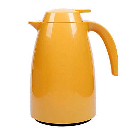 Isolierkanne Haushalts-Glaszwischenlage-warmes Wasser-Isolierungstopf-Kessel-große Kapazitäts-Art- und Weiseeuropäischer Heißwasserkocher 1.5L Lostgaming (Farbe : Gelb)