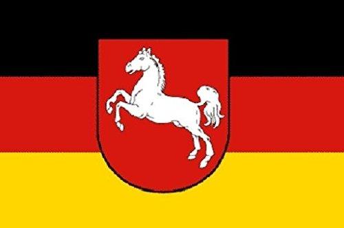 U24 Fahne Flagge Niedersachsen Bootsflagge Premiumqualität 20 x 30 cm