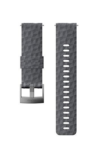 SUUNTO Uhrenarmband Zubehör, Unisex-Erwachsene Herren, 24mm Silicone, Graphite Gray- Explore, 24mm ; Size M (130-230 mm) -