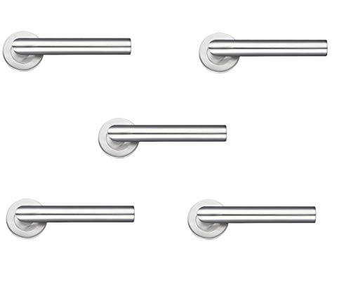 5 pares de manillas de acero inoxidable para puerta de Zoo
