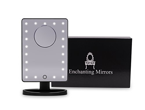 Lighted Makeup Mirror – Makeup mirror with light - Dimmable Touch Screen – 10x Magnifying - Vanity Mirror with Light – Illuminated makeup mirror - makeup mirror - vanity mirror