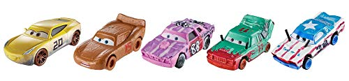Cars 3 Pack of 5 Competition vehicles Thunder Hollow, toy cars (Mattel FPV62)