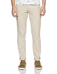 Parx Men's Slim Fit Casual Trousers