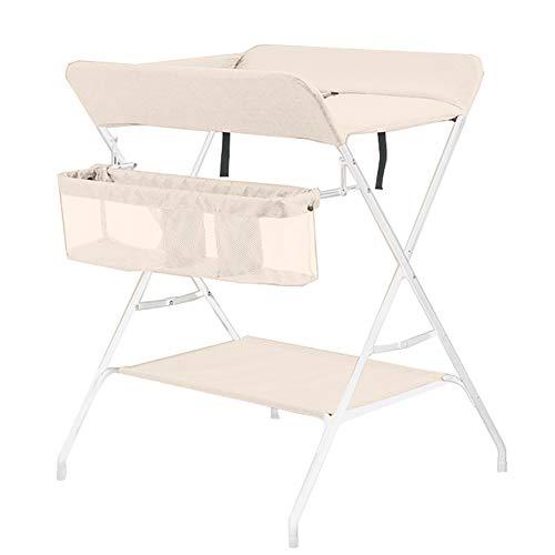 Tables à langer avec Tiroirs Table À Couches pour Bébé Unité Portable Santé Soins du Bébé, Comfort Station Beige