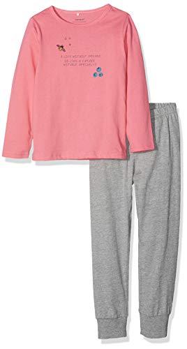 NAME IT Mädchen NMFNIGHTSET Grey Mel 1 NOOS Zweiteiliger Schlafanzug, Mehrfarbig Melange, 104