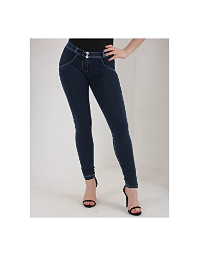 Freddy Mid Rise Skinny Jeans Navy