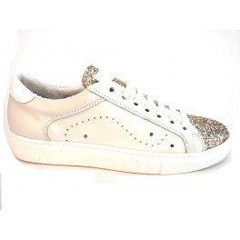 TOSCA BLU SS1607S133 ORO CORNIOLA sneaker donna in pelle - White, EUR 37
