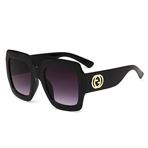 ruoyu Sonnenbrille Herren Vintage Europäischen Und Amerikanischen Großen Rahmen Sonnenbrille Neue Brille purpurn