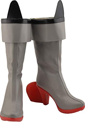 GSFDHDJS Cosplay Stiefel Schuhe for Kantai Collection Shimakaze Gray (Shimakaze Cosplay Kostüm)