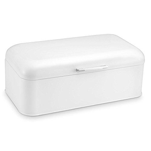 Polder KTH-916201 Retro Bread Box/Bin, White by Polder White Bread Box