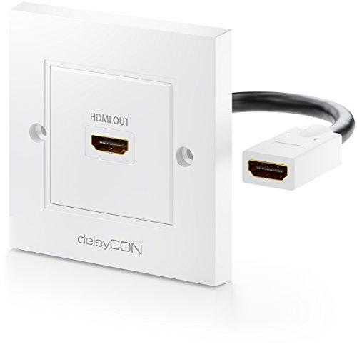 deleyCON HDMI Dose Wanddose 1x HDMI Port Unterputz Montage 3D Full HD HDTV 4K 2160p