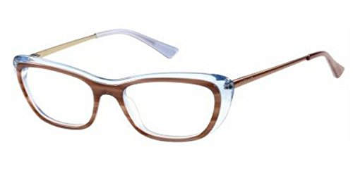 Guess by Marciano - GM0229, Schmetterling, Acetat, Damenbrillen, BROWN TRANSPARENT AZURE(E50 A),...