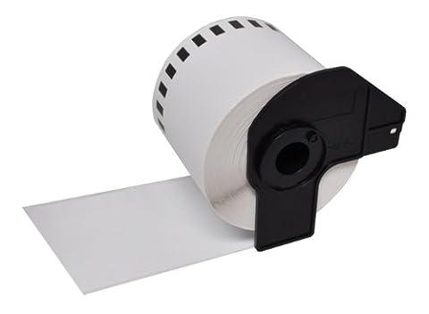 10 x DK22205 (62mm x 30.48m) rouleaux papier étiquettes continues compatible pour Brother QL-500, QL-550, QL-560, QL-570, QL-580N, QL-650TD, QL-700, QL-720NW, QL-1050, QL-1060N