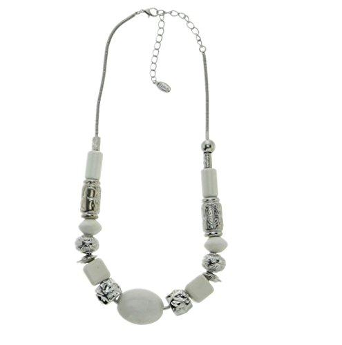 Breite Halskette weiß - Designer Halskette für Damen - Mode Accessoires - Schmuck