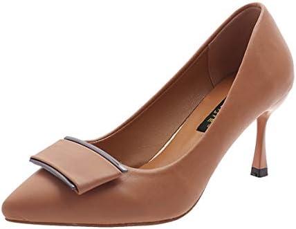 KOKQSX-joker sottile tacco tacco ha testa 7cm superficiale bocca bocca bocca di donne single le scarpe. 36 Marronee B07HDZH6GN Parent | Forma elegante  | Conveniente  e75a39