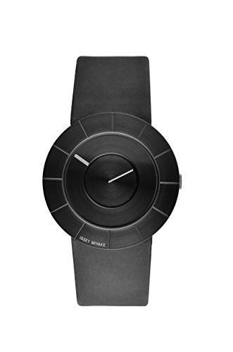 Issey Miyake Men's To Watch IM-SILAN004 With Black Leather Strap