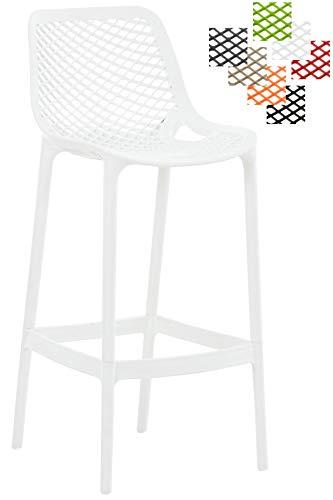 s pflegeleichtem Kunststoff I Wetterbeständiger Tresenstuhl I Barstuhl mit Fußstütze und Einer Sitzhöhe von: 75 cm I erhältlich Weiß ()