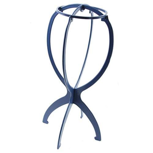 jhtceu Perückenhut-Halterung, Kunststoff, für Perücken, Huten, Ständer aus Kunsthaar, strapazierfähig, faltbar