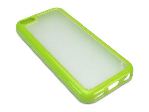 Sandberg Hard/Soft Rahmen Cover für iPhone 5C grün