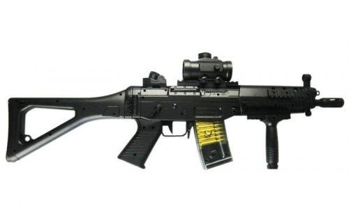 Luft Maschinenpistole AEG mit Zielfernrohr, 6 mm kaliber, 300 Schuss/min, < 0.5 Joule | M82 (Double Eagle Softair)