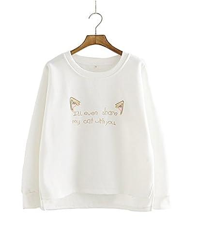 LemonGirl - Sweat-shirt - Femme - blanc - Large/44-46
