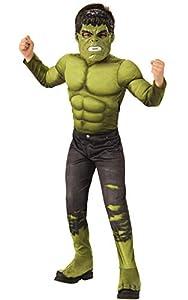 Rubies - Disfraz Oficial de Los Vengadores Endgame Hulk, Talla Grande, Edad 8-10, Altura 147 cm