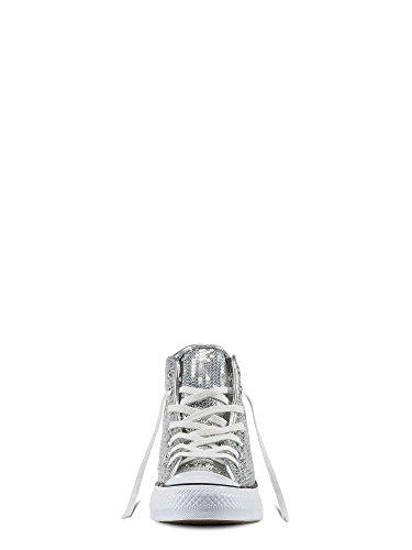 Converse 556817c, Scarpe Outdoor Multisport Donna Argento-bianco