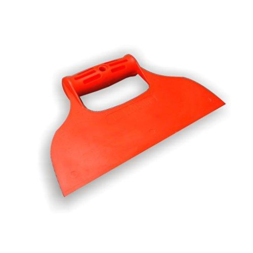 DEWEPRO® Kunststoffspachtel - Flächenspachtel mit Griff ohne Zahnung - Breite: 235mm - Breitspachtel - Fugenspachtel aus Kunststoff