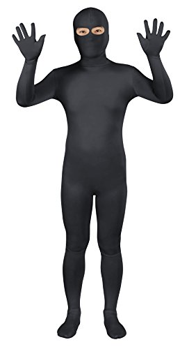 Sheface Spandex Eyes Open Second Skin Zentai Full Body Costume (Large, ()