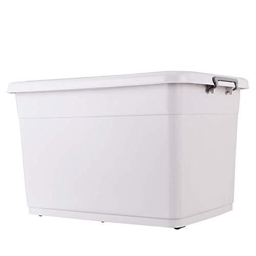 Gran Caja de Almacenamiento de plástico Transparente con Tapa Transparente Fuerte contenedor apilable...