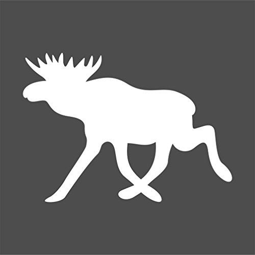Elch Aufkleber Tieraufkleber Rentier Autoaufkleber (WEISSMATT)