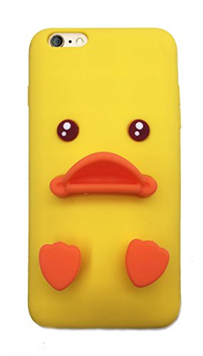 Niedliche Gelb Ente Soft Silikon Schutzhülle für iPhone 4. 5, 6, 6S, 6Plus, 6S Plus 14cm, iPhone 7+ Plus ()