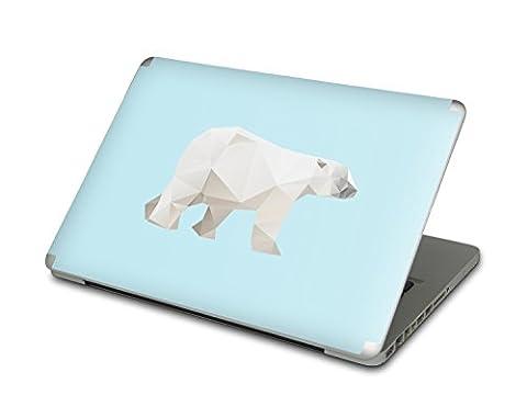 Autocollant pour Apple MacBook Pro 13 (2011) | Coque de protection arrière Ordinateur Portable | Skin vinyle sticker - accessoire personnalisé | Design Origami Polar