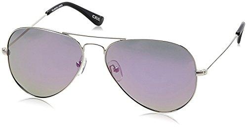 IDEE Mirrored Aviator Unisex Sunglasses - (IDS2001C21PSG|58|Purple Revo lens) image