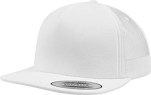 Flexfit Foam Trucker Cap, White, one Size Yupoong Flex Fit Twill