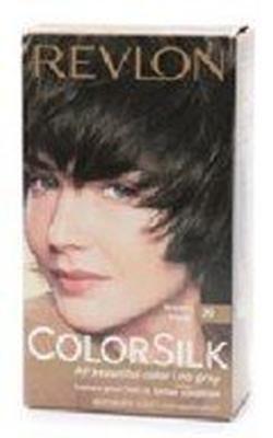 Revlon COLORSILK Belle Haircolor, sans ammoniaque, Couleur de cheveux permanente - # 20 Brun Noir (Lot de 4)