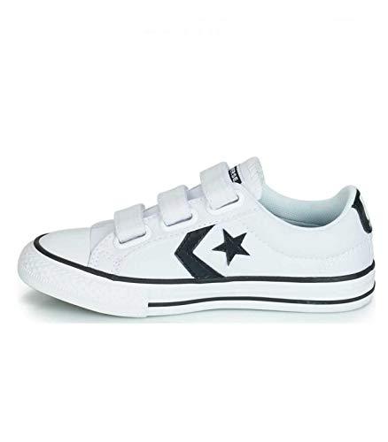 Converse Unisex-Kinder Chuck Taylor All Star Sneaker Weiß Black/White 000, 36 EU