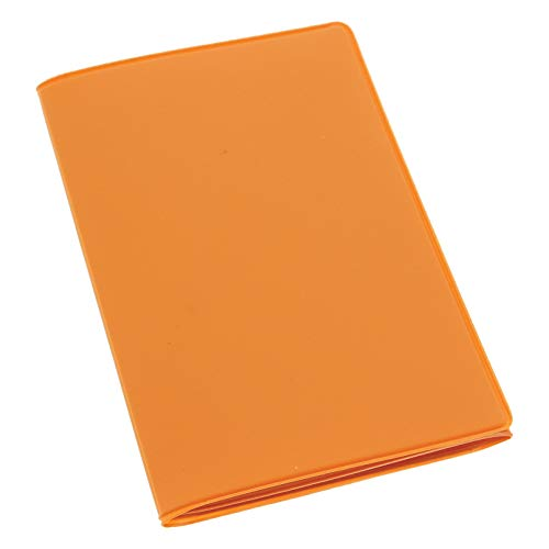 HABILL-AUTO Etui PVC Gomme pour Carte Grise (133x264 mm) Orange