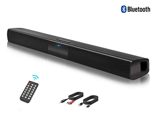 Barre de son, Haut-parleur, Wireless Bluetooth Barre de Son TV 2.0 Canal, Soundbar stéréo HD Audio...