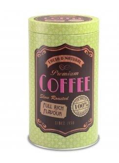 Justinus Kaffeedose rund, grün, Lifestyle