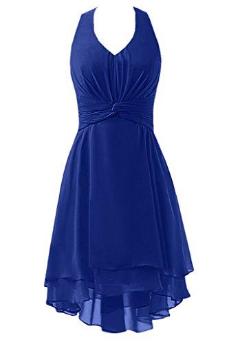 Sunvary retro scollo a V Halter chiffon abito party abiti damigella d' onore per 2016donne Royal Blue