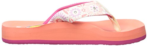 Reef Little Ahi Ligh, Tongs Fille Rouge (Coral)