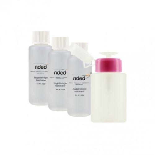Lot kit flacon pompe + 3 cleaner NDED dégraissant gel UV faux ongles vernis UV permanent