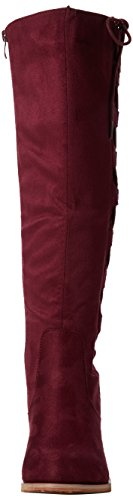 Joe Browns Striking Side Lace Boots, Riding Boots Donna Red (Wine)