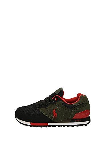 Polo Ralph Lauren SLATON PONY Sneakers Basse Uomo Verde/nero 43