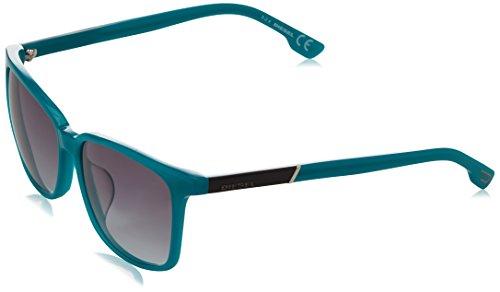 Diesel wayfarer eye, occhiali da sole unisex-adulto, blu (blue), 57.0